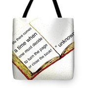 Sketch Of A Book With Quote Tote Bag