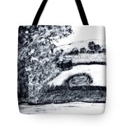 Sketch Of Country Scene Tote Bag