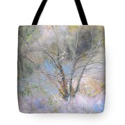 Sketch Of Halation Effect Through Trees Tote Bag