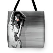 Sketches Of Nude Black And White Tote Bag