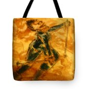 Ski Lady - Tile Tote Bag