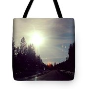 Ski Lodge Road Tote Bag