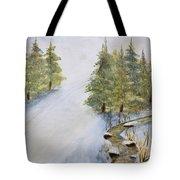 Ski Mountain Tote Bag