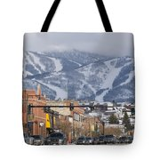 Ski Resort And Downtown Steamboat Tote Bag