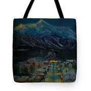 Ski Resort Tote Bag