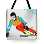 Skier Tote Bag