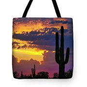 Skies Aglow In Arizona  Tote Bag