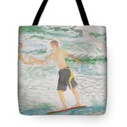 Skim Boarding Daytona Beach Tote Bag
