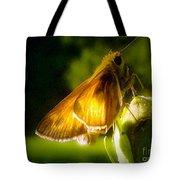 Skipper Butterfly Basking In Sun Tote Bag