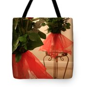 Skirted Roses In Mirror Tote Bag