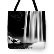 Skogafoss On A Cloudy Day Tote Bag