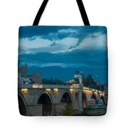 Skopje Stone Bridge Tote Bag