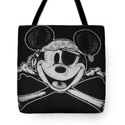 Skull And Bones Mickey  Tote Bag