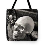 Skull And Skeleton Key Tote Bag
