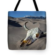Skull At The Great Sand Dunes Tote Bag
