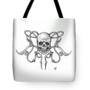 Skull Design Tote Bag