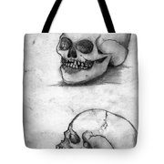 Skull Drawing Tote Bag