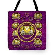 Skull Hands In A Flower Scenery Popart Tote Bag