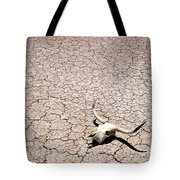 Skull In Desert Tote Bag