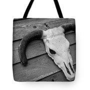 Skull In North Dakota  Tote Bag