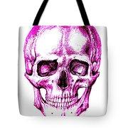 Skull In Purple Tote Bag