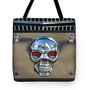Skull License Plate Tote Bag