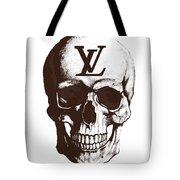 Skull Lv Braun Tote Bag