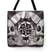 Skull Mandala Series Nr 1 Tote Bag by Deadcharming Art