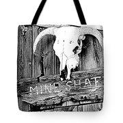 Skull On Wood Tote Bag