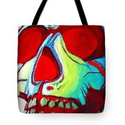 Skull Original Madart Painting Tote Bag