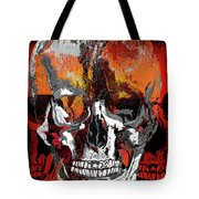 Skull Times Three Larger Size Tote Bag
