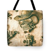 Skulls And Pieces Tote Bag