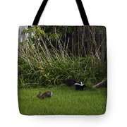 Skunk And Rabbit Surprise Tote Bag