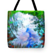 Sky Above Young Vision Below Tote Bag