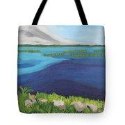 Serene Blue Lake Tote Bag