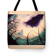 Sky And Land Symphony Tote Bag