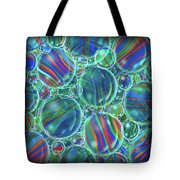 Sky Blue Marbles Tote Bag