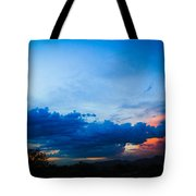 Sky Blue Sky Black Tote Bag