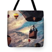 Sky Caravan Hot Air Balloons Tote Bag