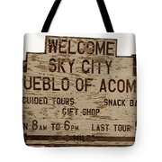 Sky City Sign Tote Bag