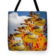 Sky Giraffes Tote Bag