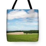 Sky Over Field Tote Bag