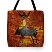 Sky People Taking Buffalo Tote Bag