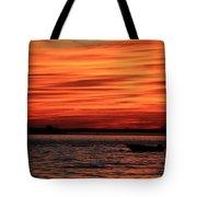 Sky Ripple Sunset Tote Bag
