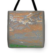 Sky The Color Of Trees Tote Bag