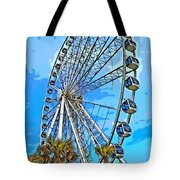 Sky Wheel-colorized Tote Bag