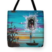 Sky Window Tote Bag by Roz Eve