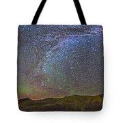 Skygazer Standing Under The Stars Tote Bag