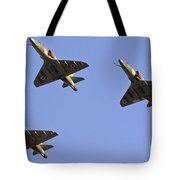 Skyhawk Fighter Jet In Formation  Tote Bag