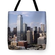 Skyline Of Dallas Texas On A Sunny Day Tote Bag